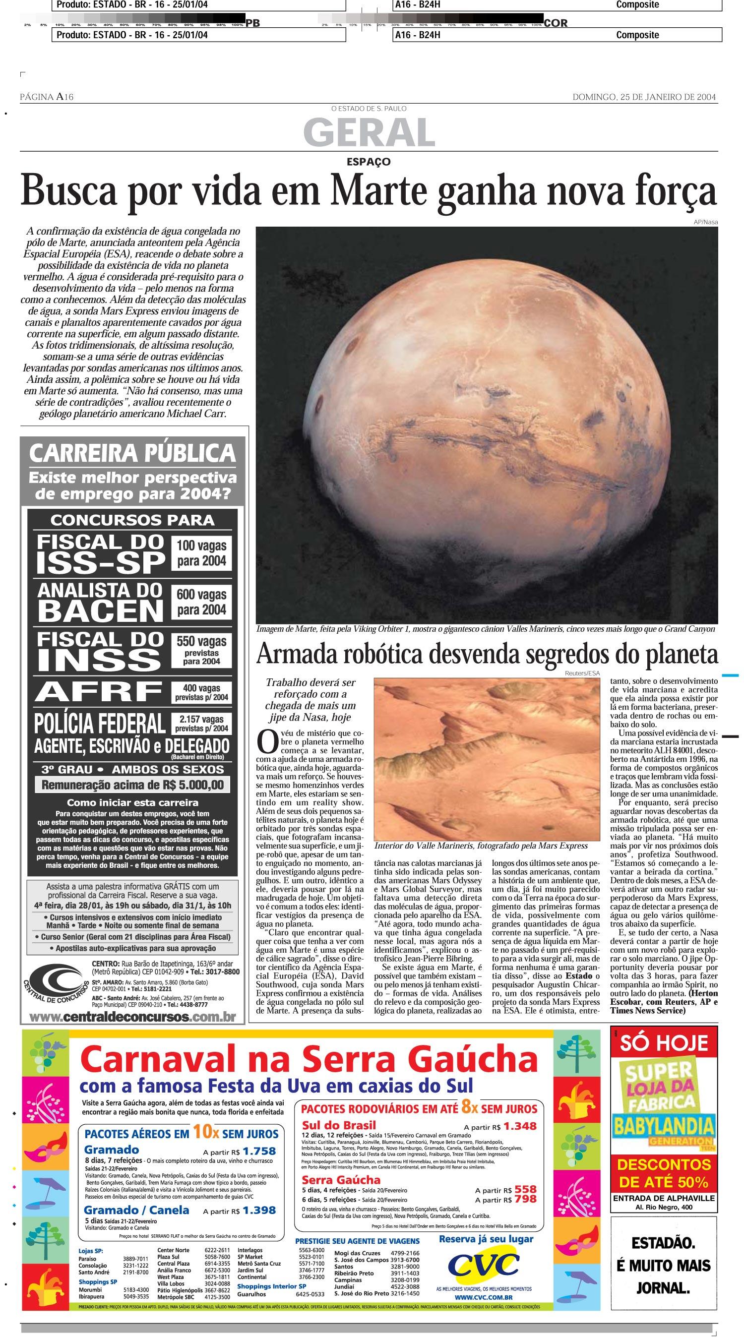Busca por vida em Marte ganha nova força