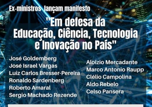 Lançamento do manifesto: Em defesa da Educação, Ciência, Tecnologia e Inovação no País