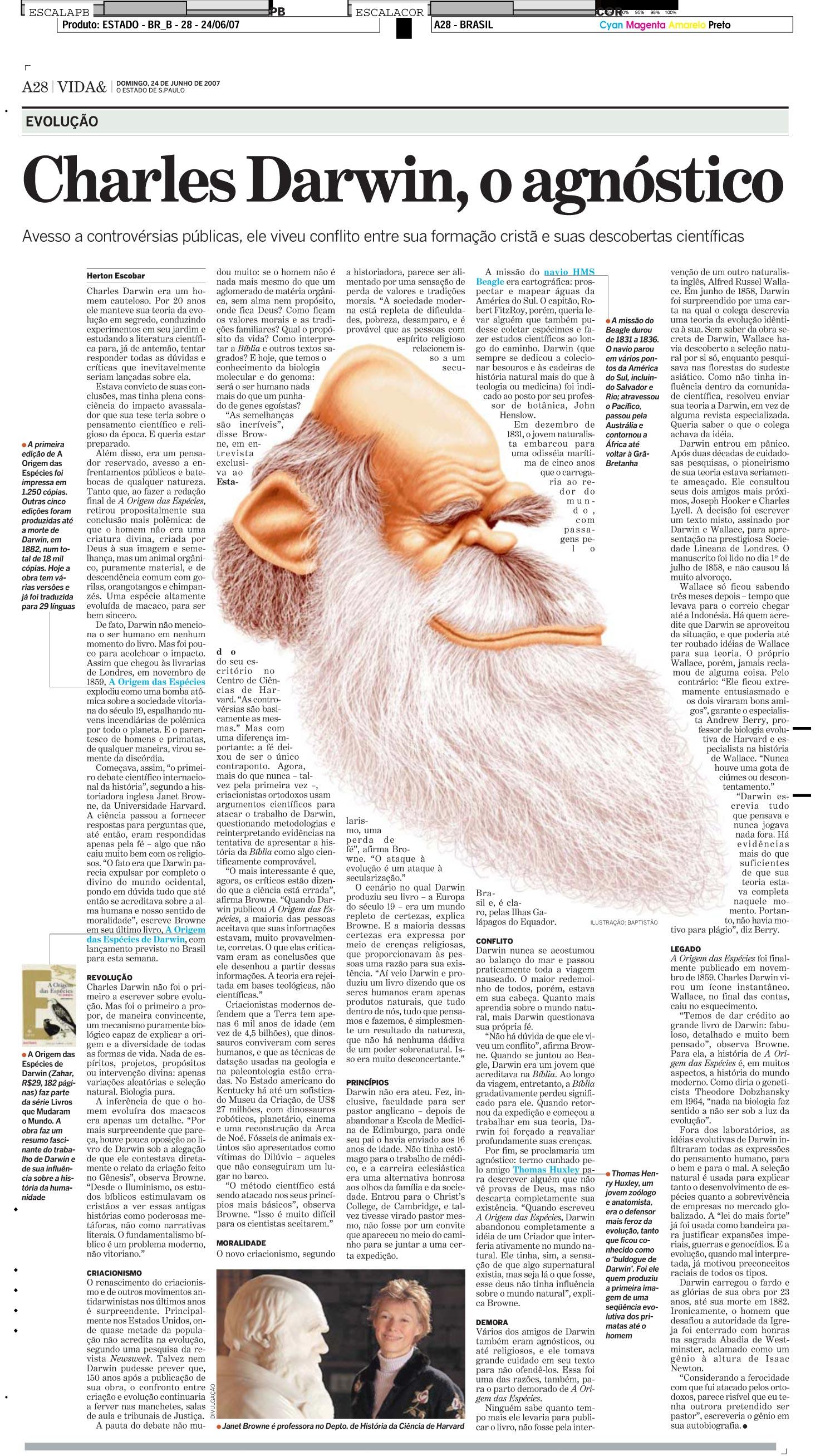 Charles Darwin, o agnóstico
