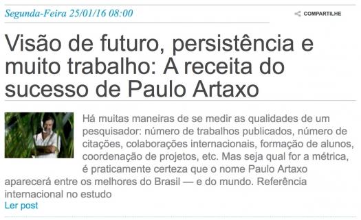 Visão de futuro, persistência e muito trabalho: A receita do sucesso de Paulo Artaxo