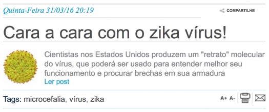 Cara a cara com o zika vírus