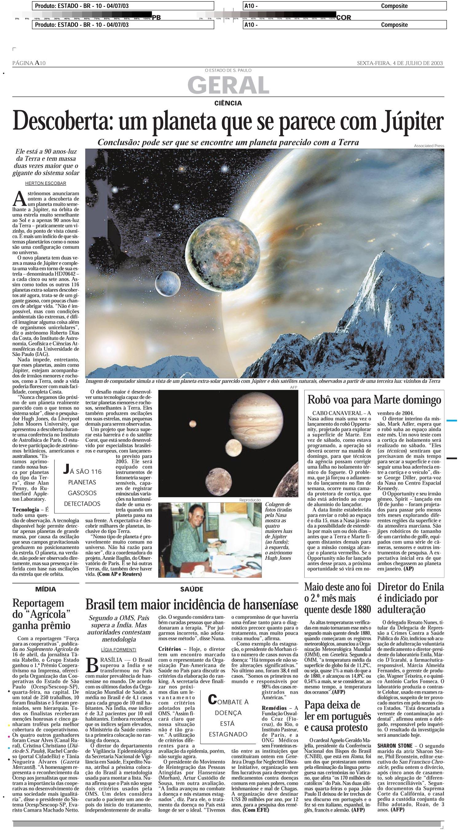 Descoberta: um planeta que se parece com Júpiter