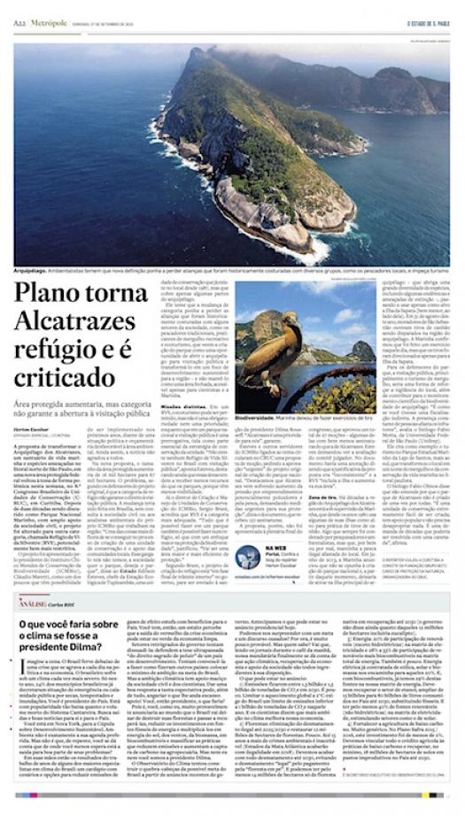 Plano que torna Alcatrazes refúgio é criticado