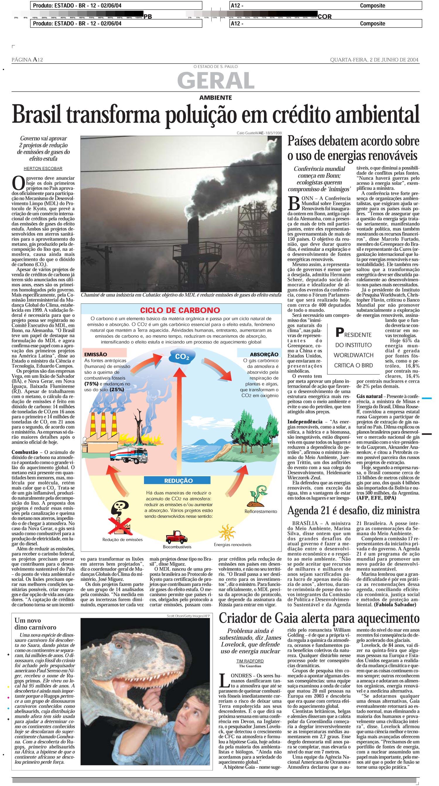 Brasil transforma poluição em crédito ambiental