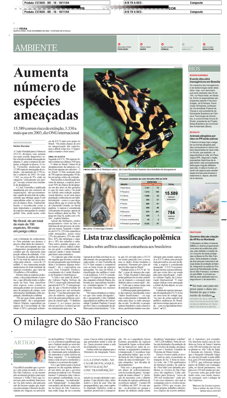Aumenta número de espécies ameaçadas