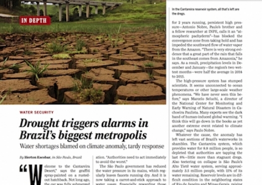 Drought triggers alarms in Brazil biggest metropolis