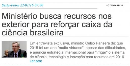 Ministério busca recursos nos exterior para reforçar caixa da ciência brasileira