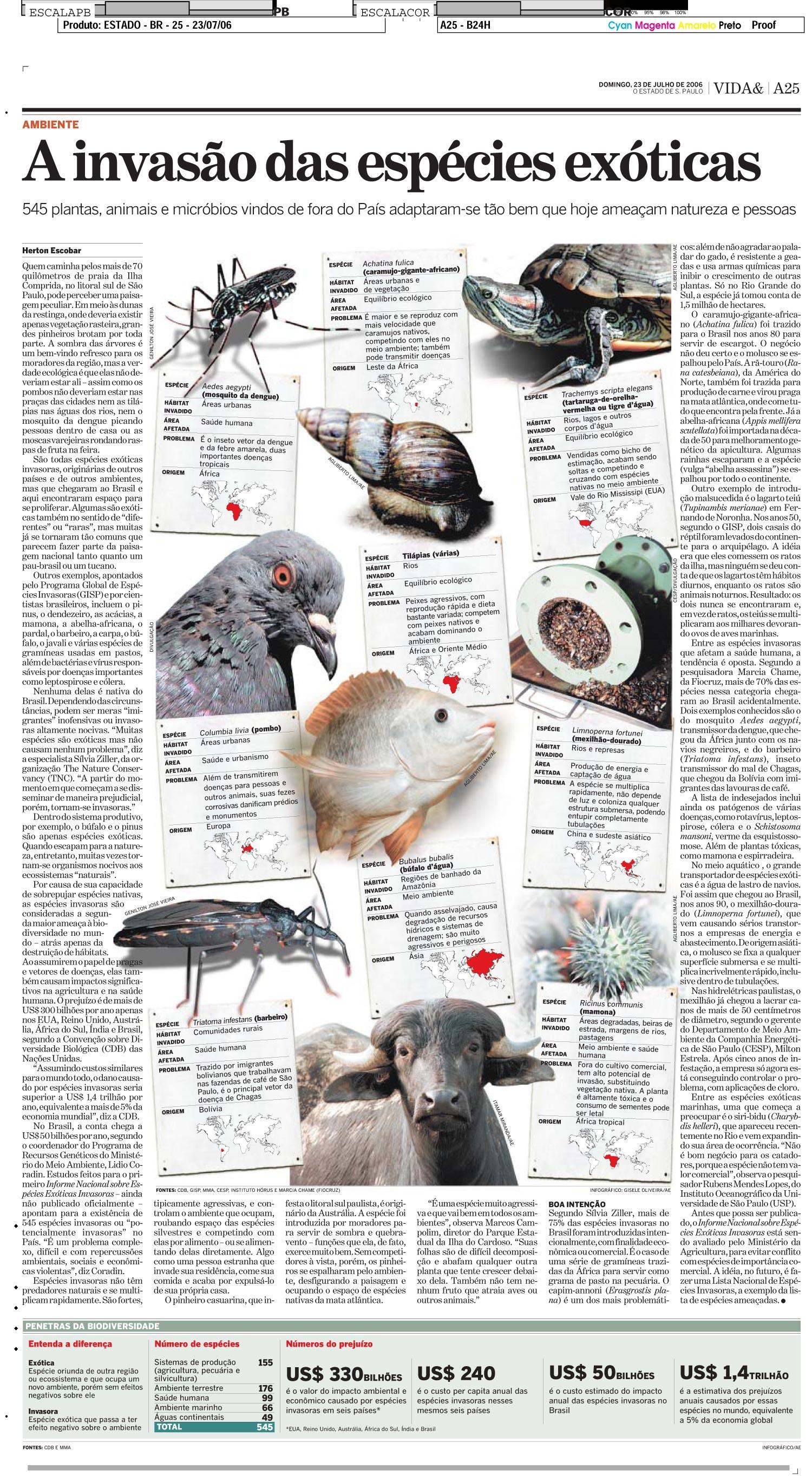 A invasão das espécies exóticas