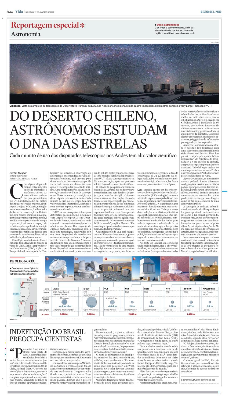 No deserto chileno, cientistas estudam o DNA das estrelas