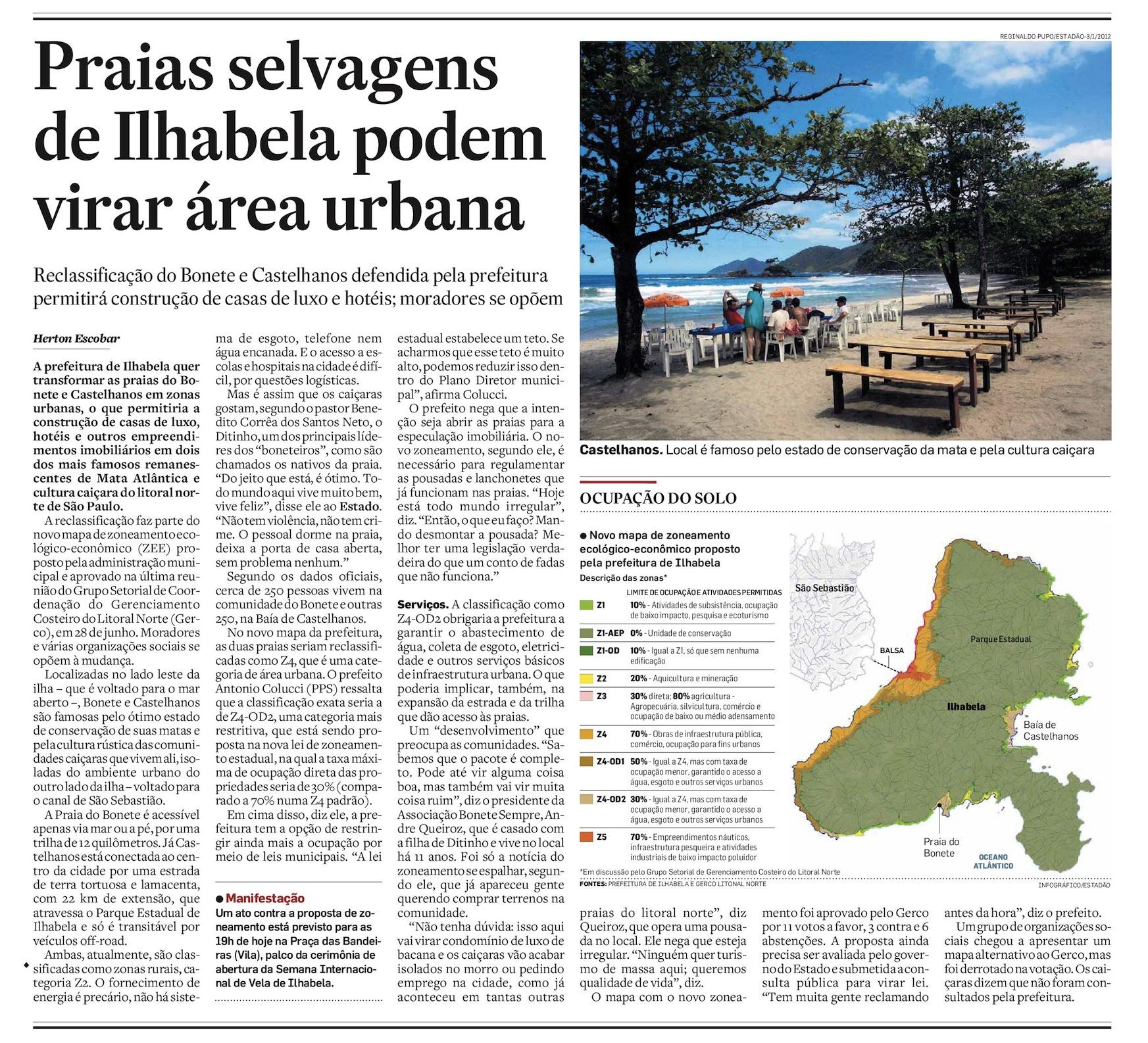 Praias selvagens de Ilhabela podem virar área urbana