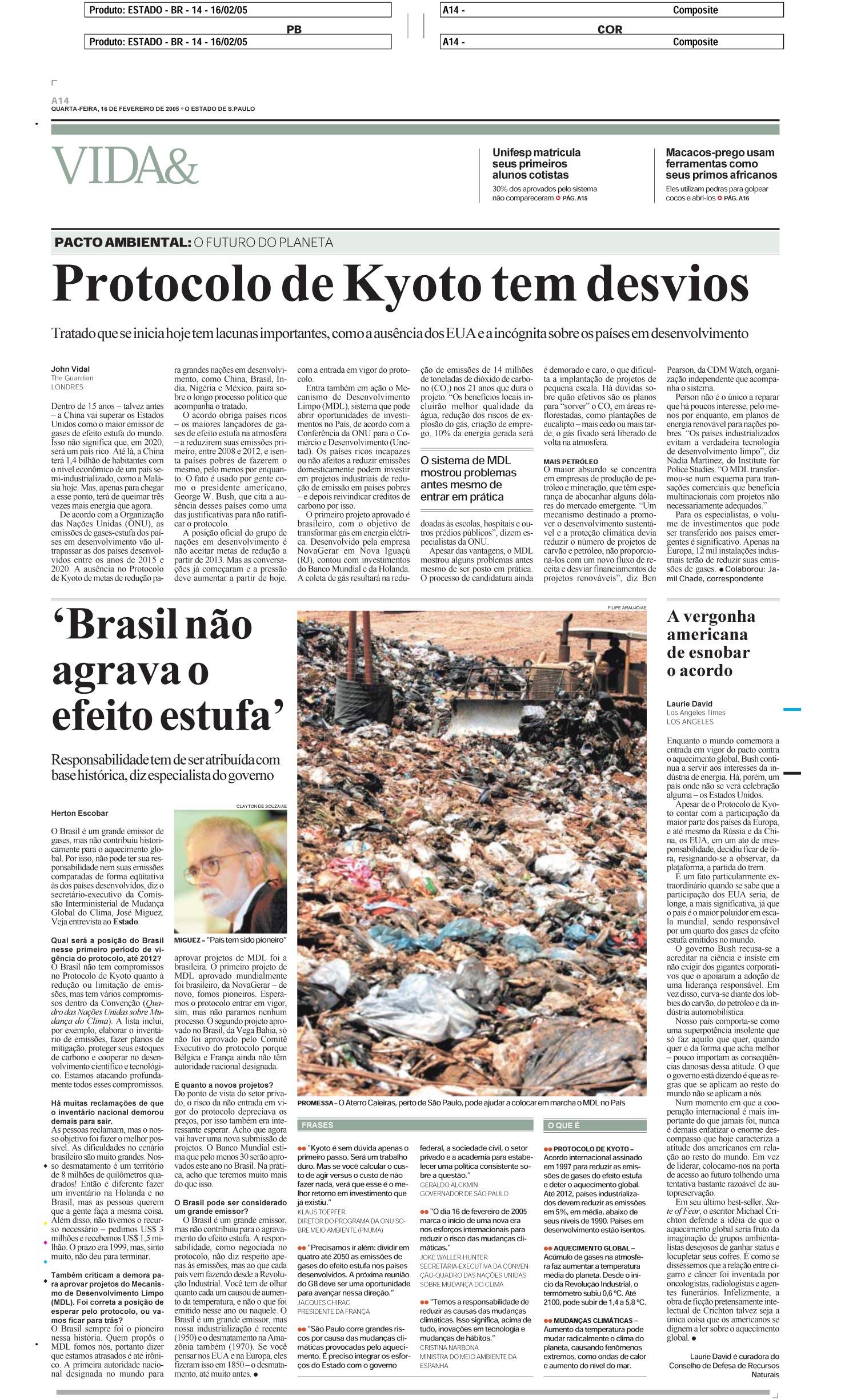 Brasil não agrava o efeito estufa