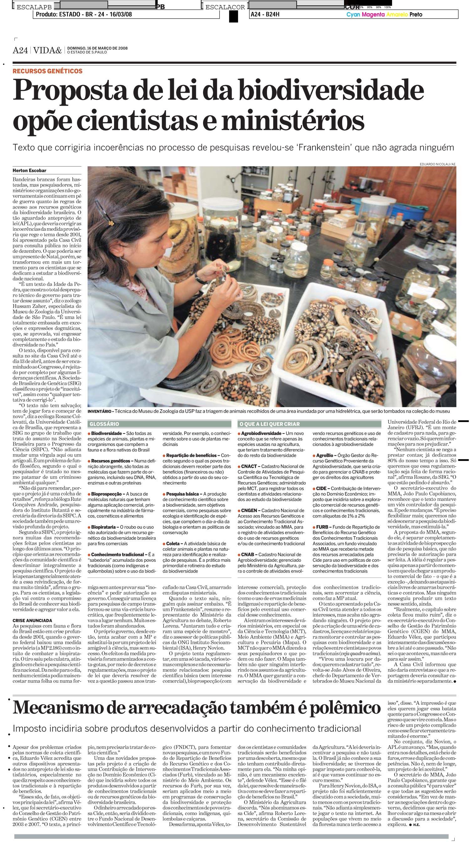 Proposta de lei da biodiversidade opõe cientistas e ministérios