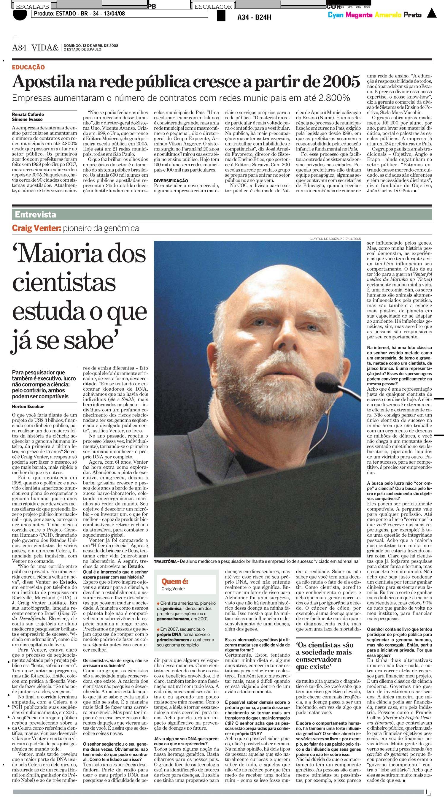 Entrevista: Craig Venter