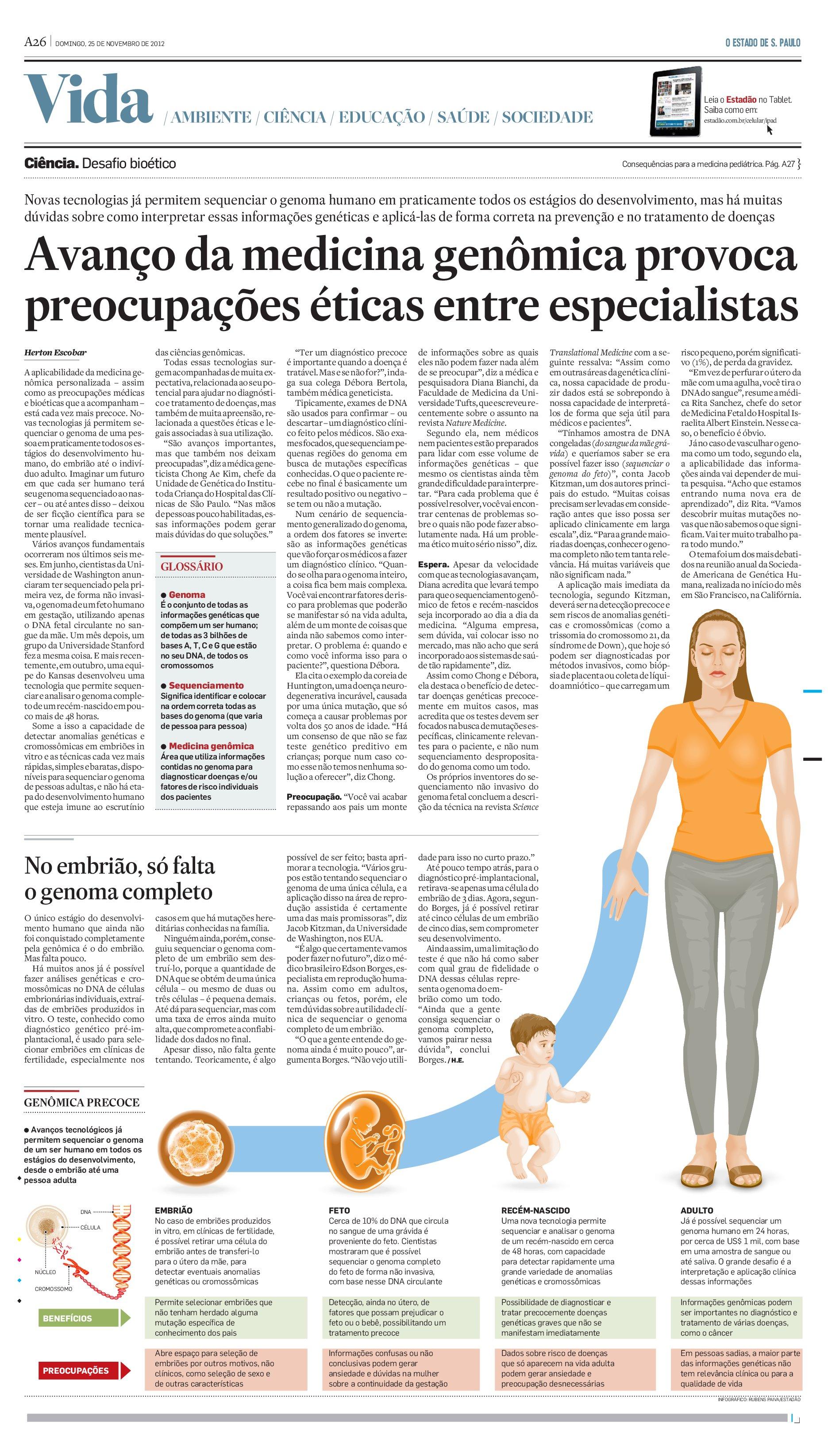 Genoma Fetal: Avanços da medicina genômica geram preocupações éticas entre especialistas