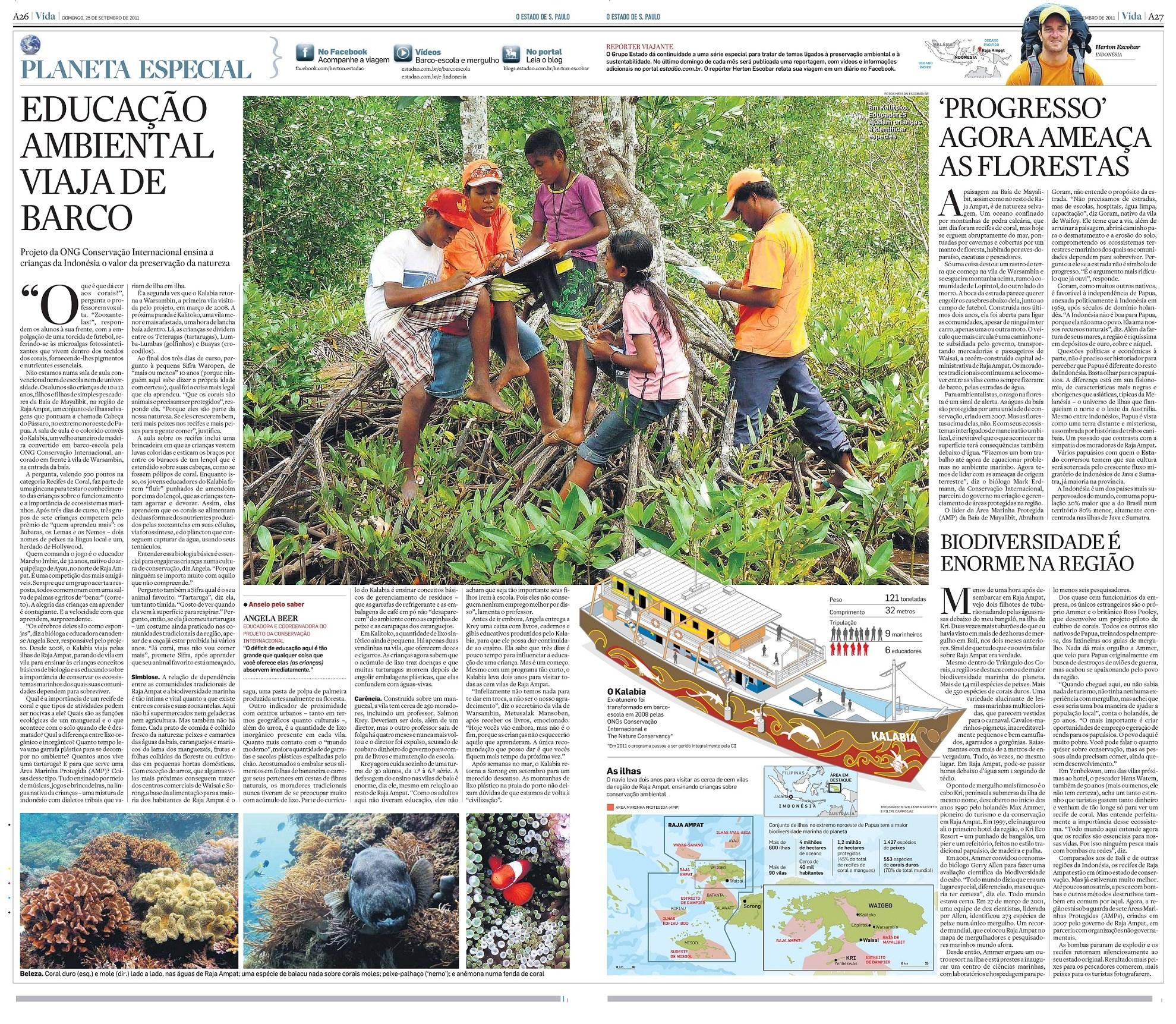 Repórter Viajante: Educação ambiental viaja de barco
