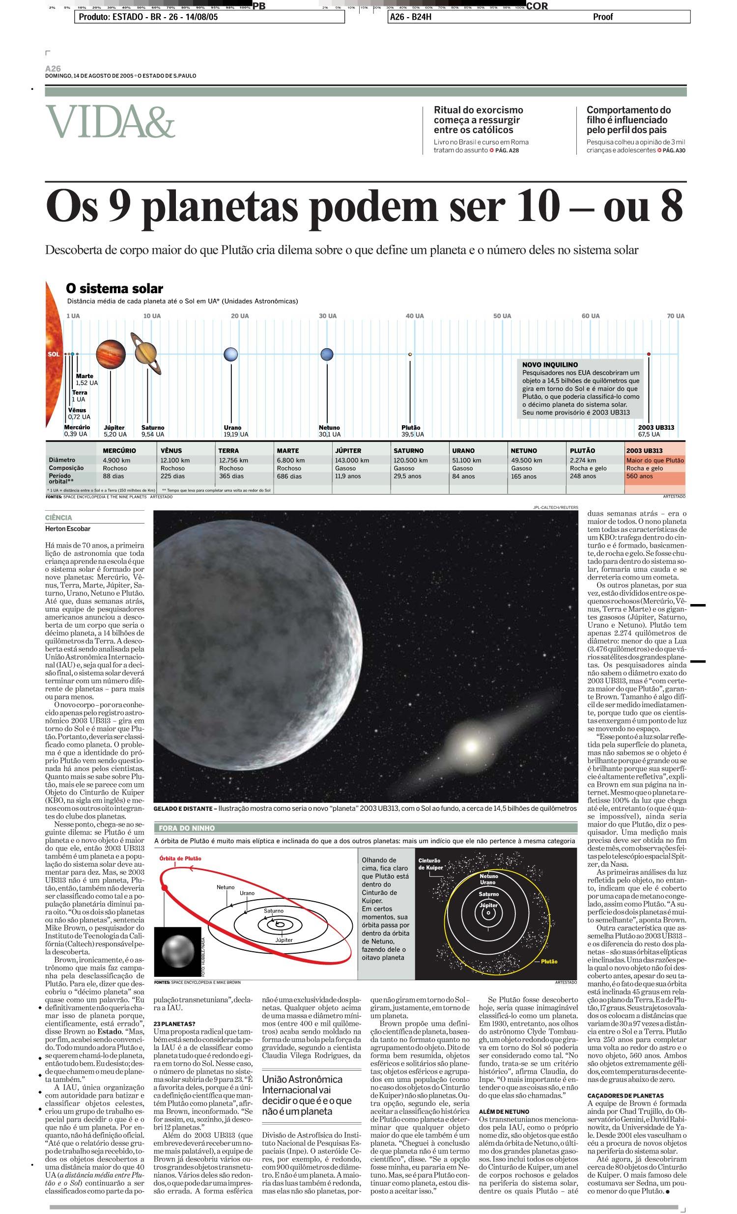 Os 9 planetas poder ser 10 - ou 8