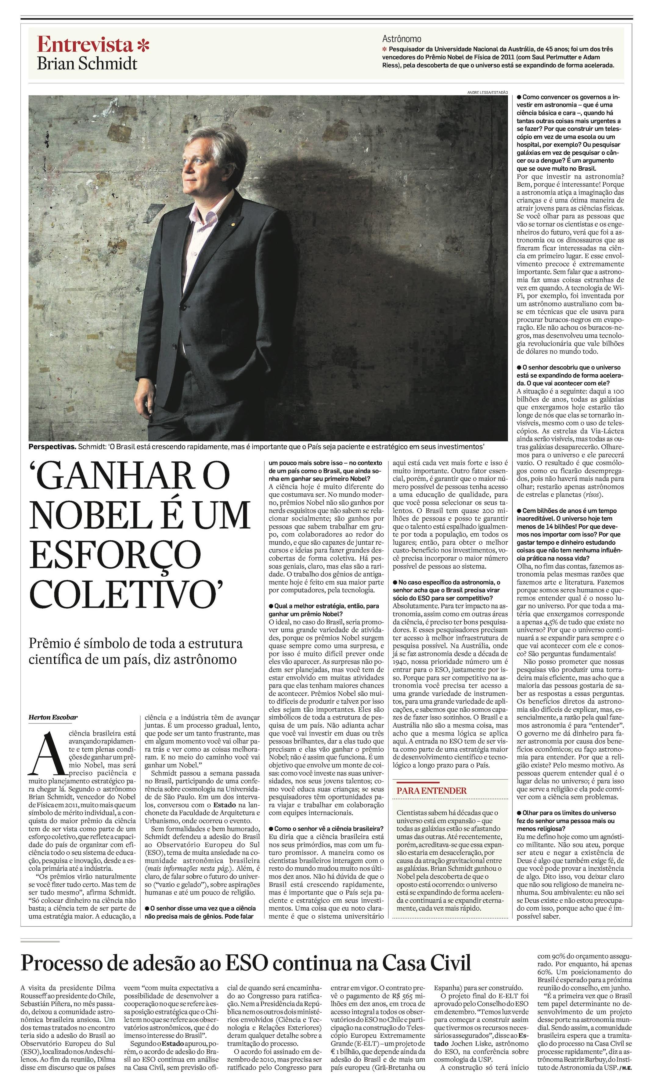 Receita para o Brasil ganhar um Nobel: Paciência e Planejamento Estratégico