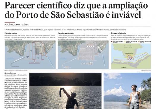 Parecer científico diz que ampliação do Porto de São Sebastião é inviável (impresso)