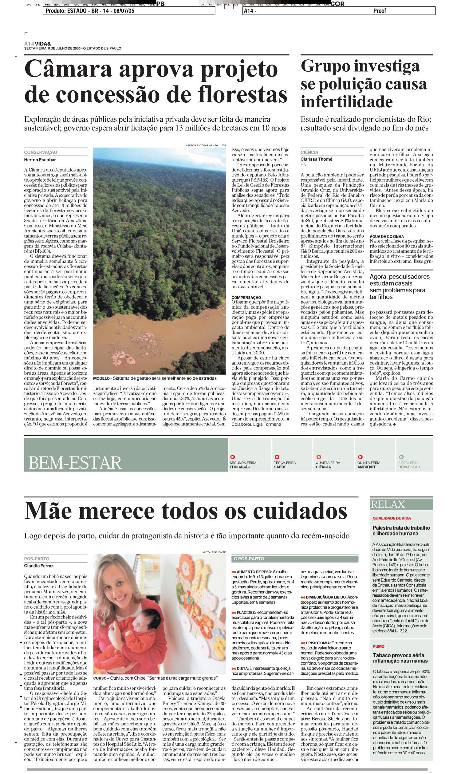 Câmara aprova projeto de concessão de florestas