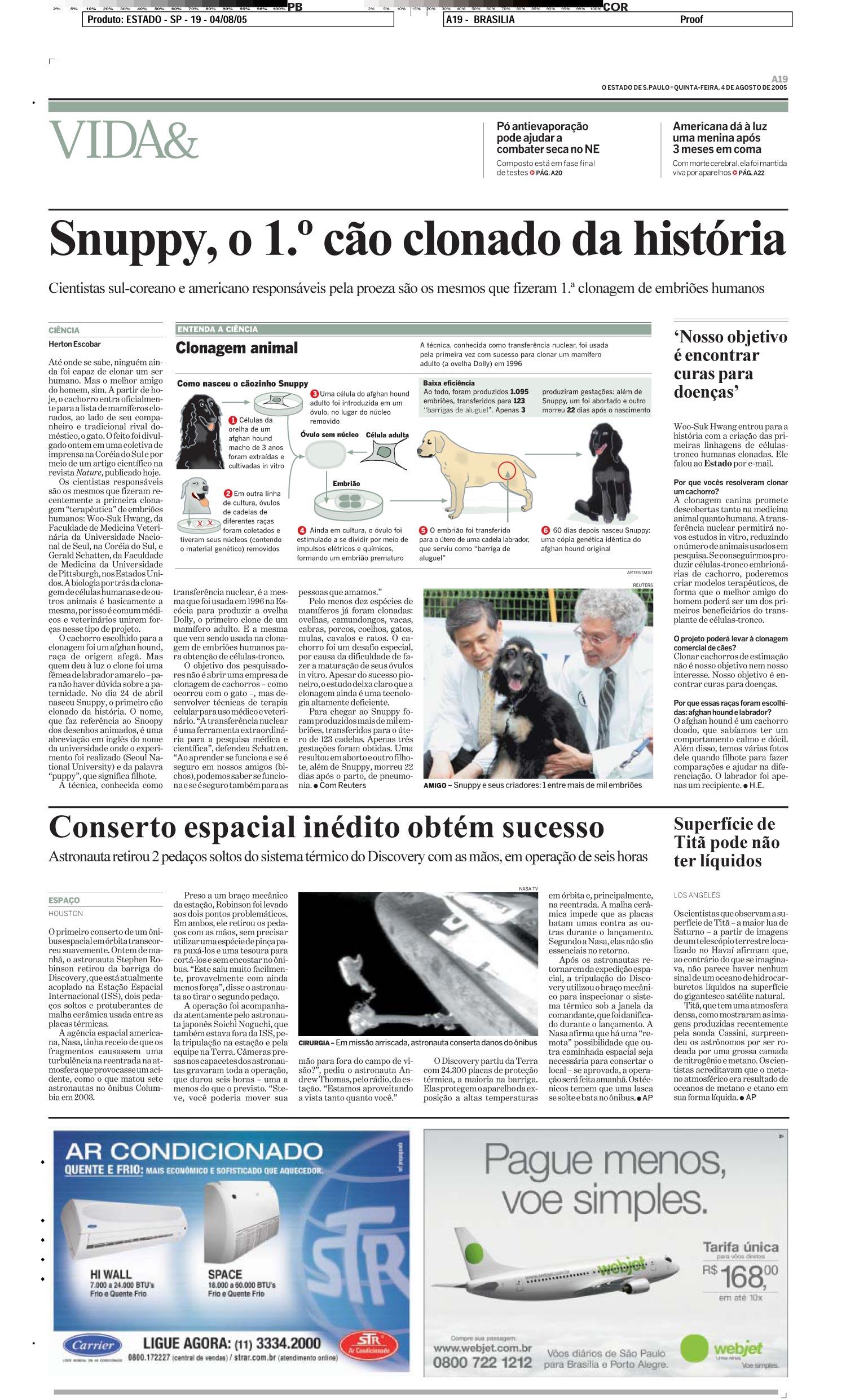 Snuppy, o primeiro cão clonado da história