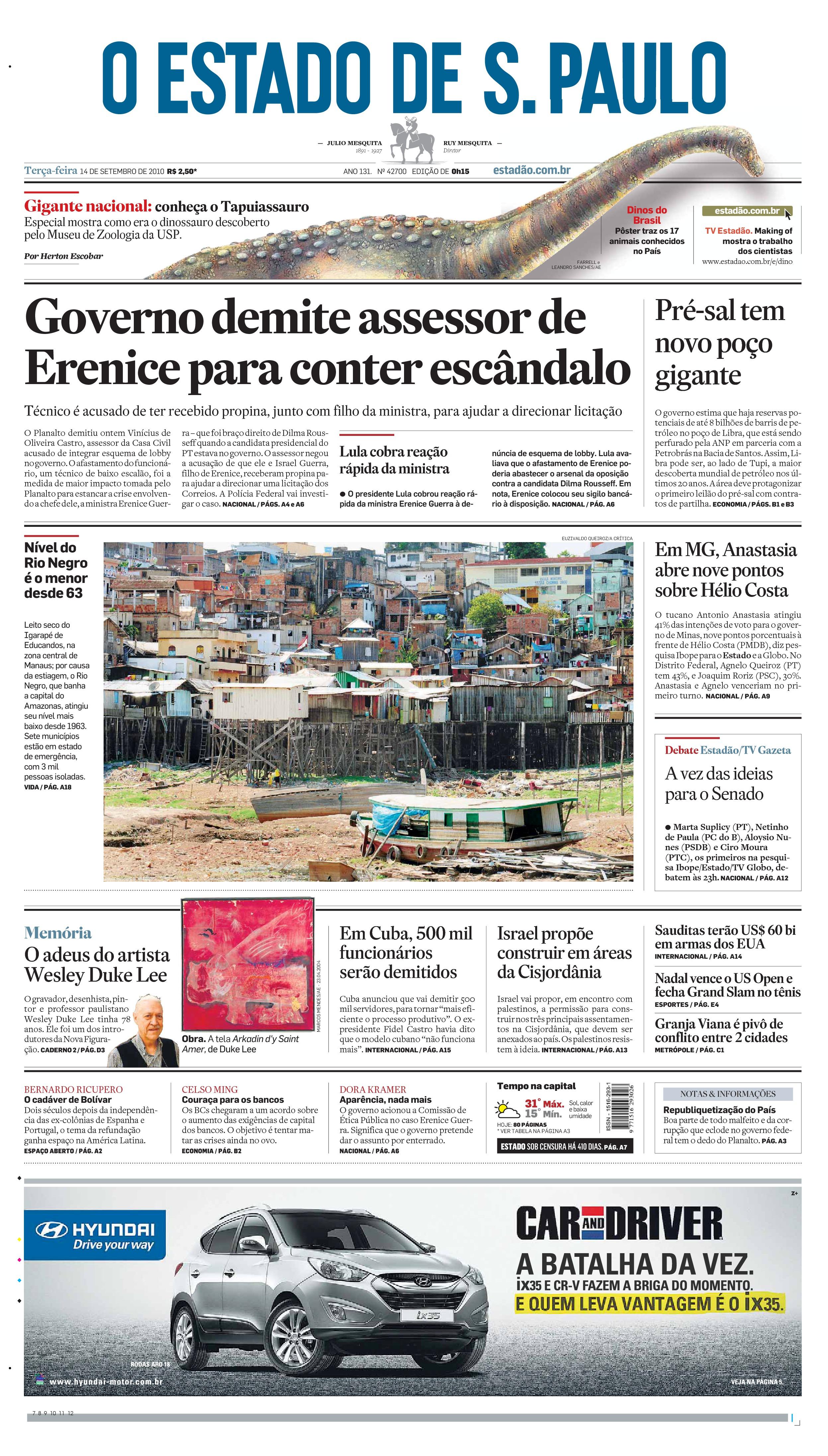 Dinossauros do Brasil - Caderno Especial (manchete)