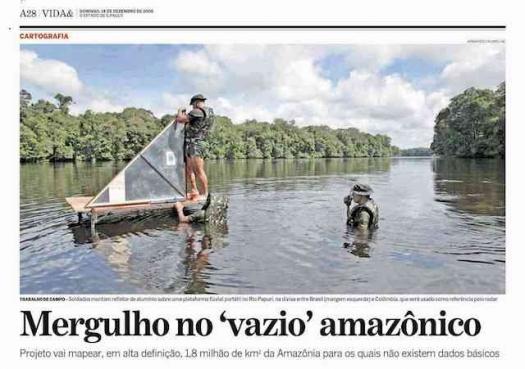 Mergulho no vazio amazônico