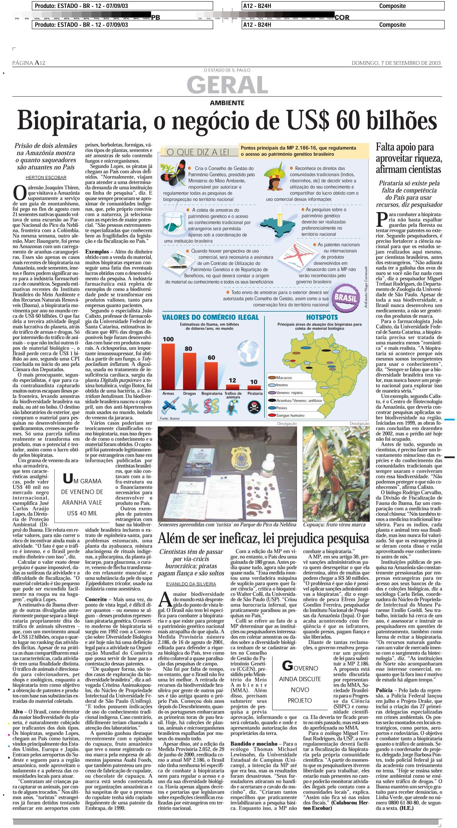 Biopirataria, o negócio de US$ 60 bilhões