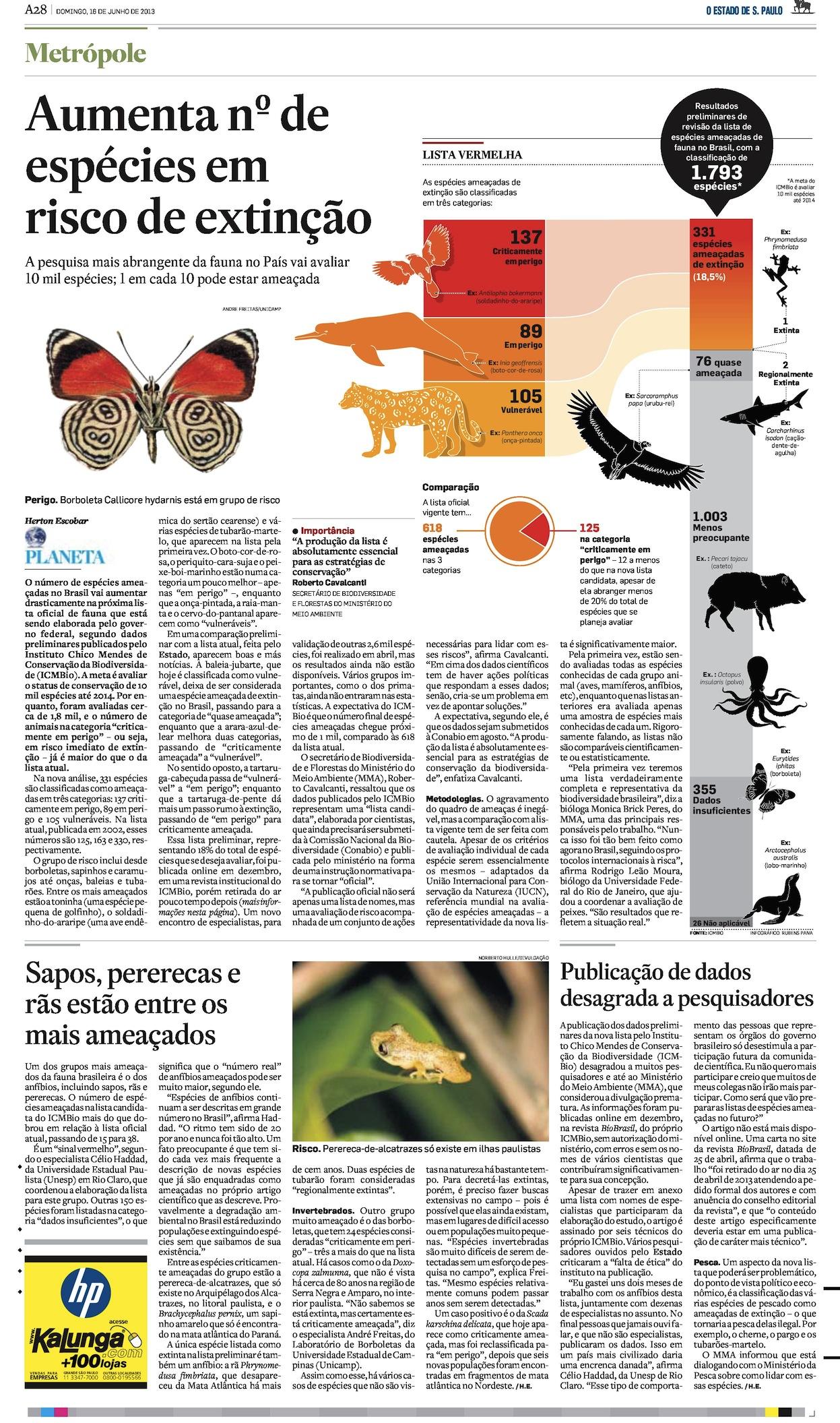 Aumenta o número de espécies ameaçadas no Brasil