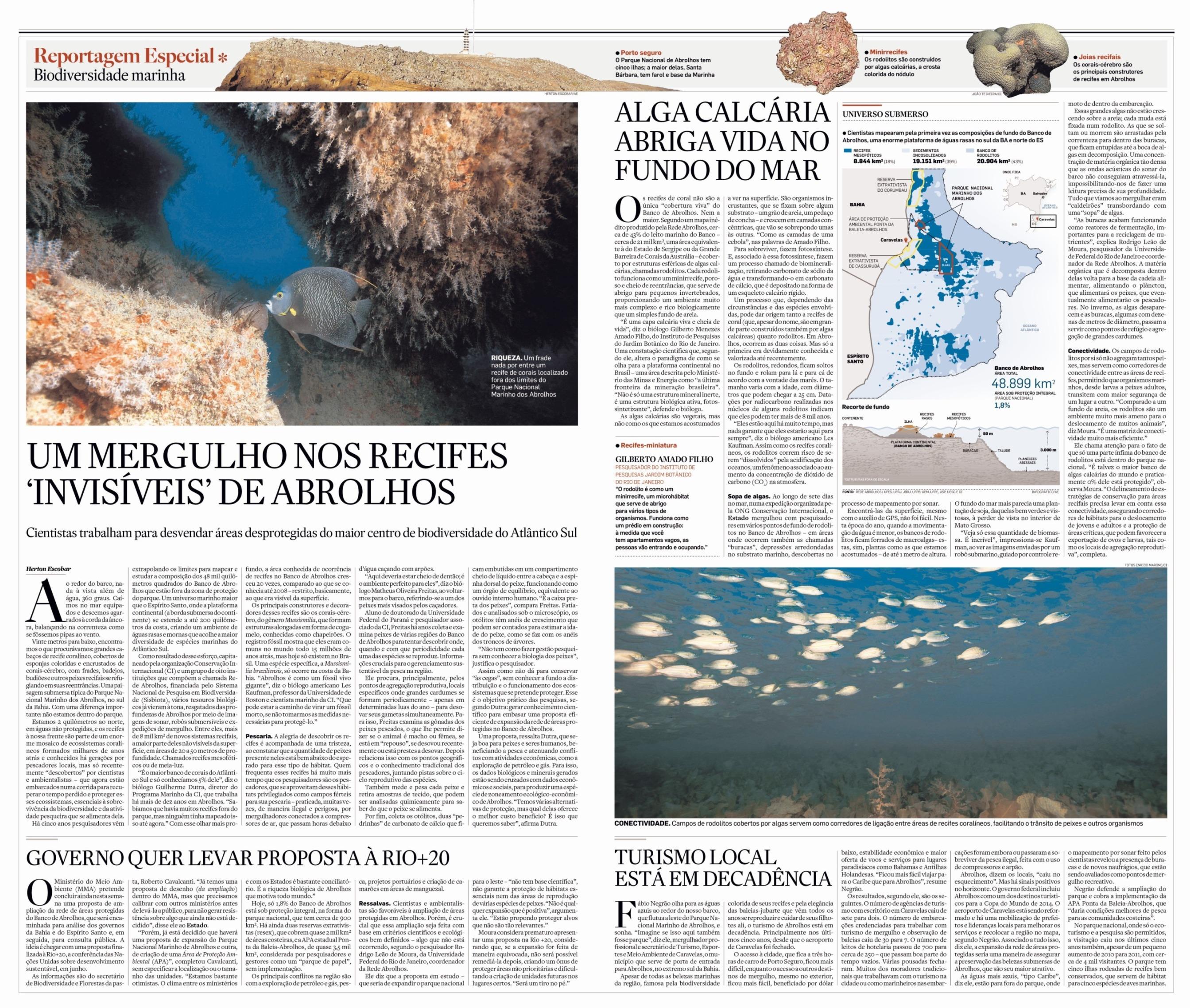 Um mergulho nos recifes invisíveis de Abrolhos