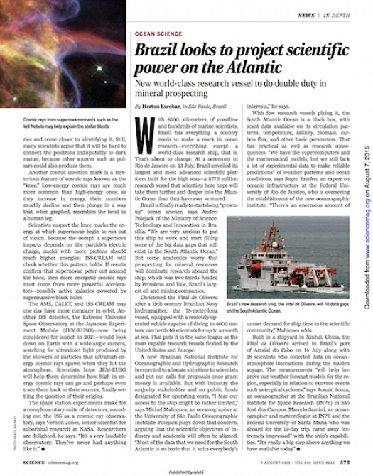 Brazil looks to project scientific power on the Atlantic