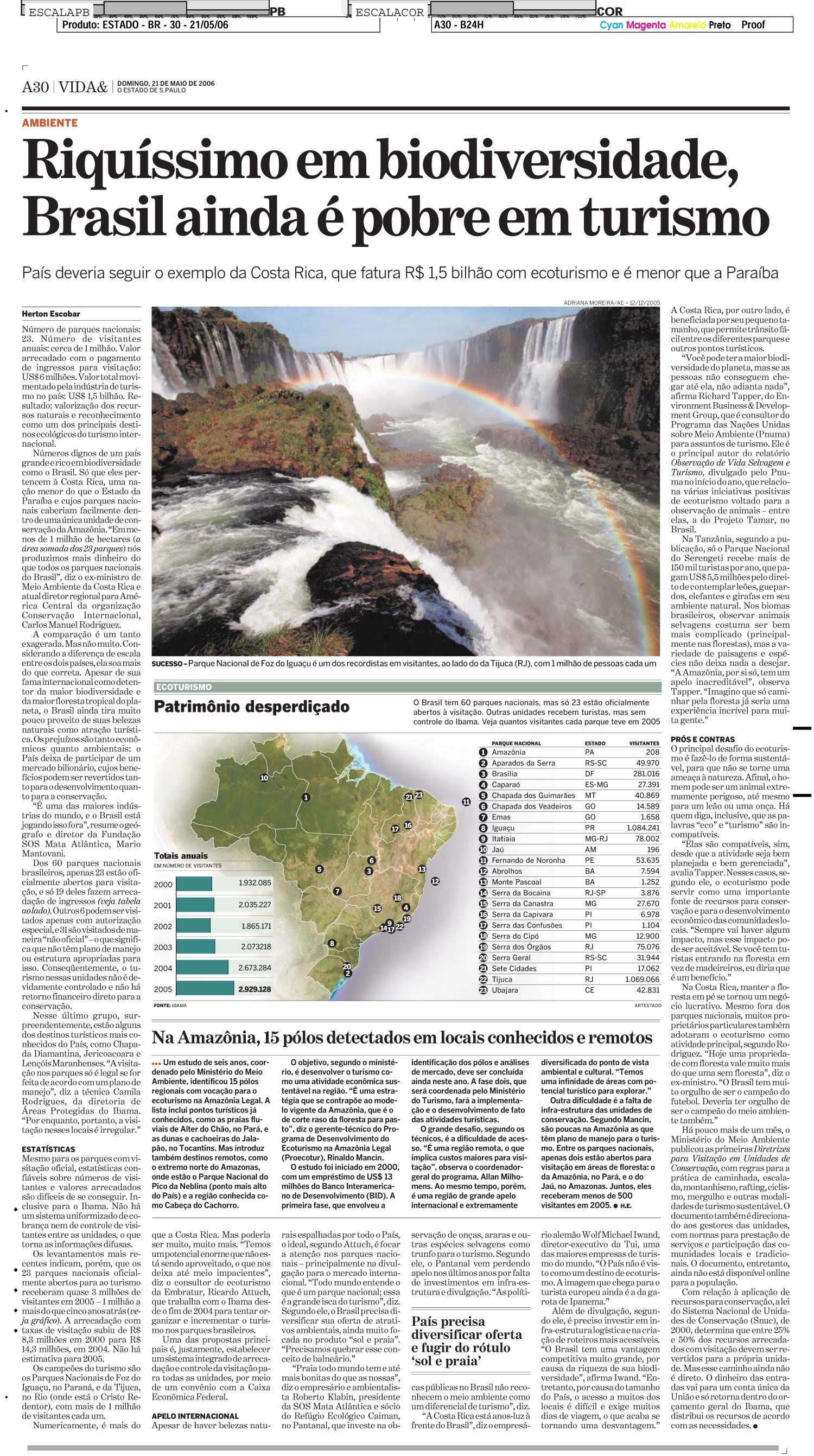Riquíssimo em biodiversidade, Brasil ainda é pobre em turismo