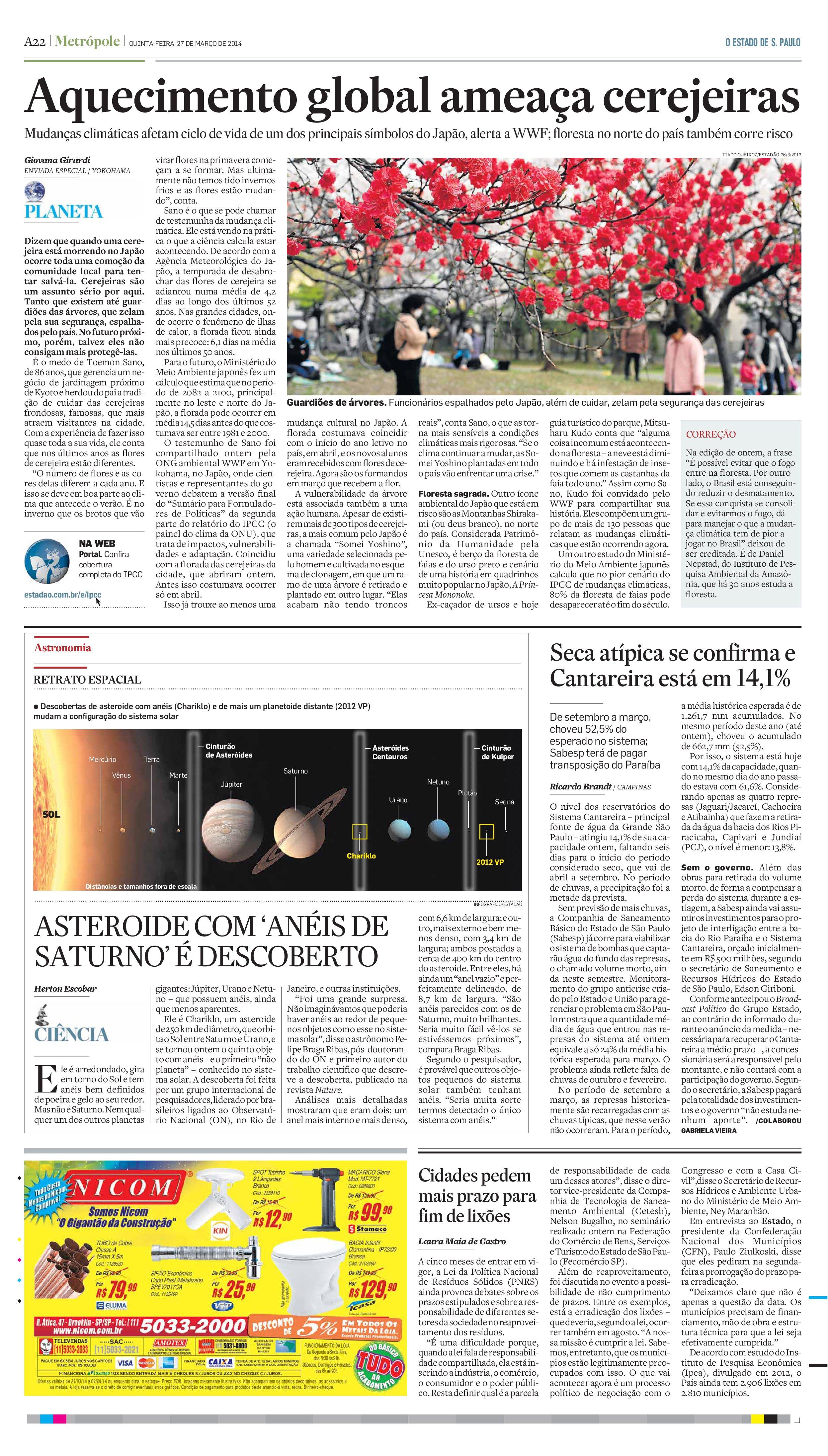 Brasileiros descobrem anéis ao redor de asteroide (Chariklo)