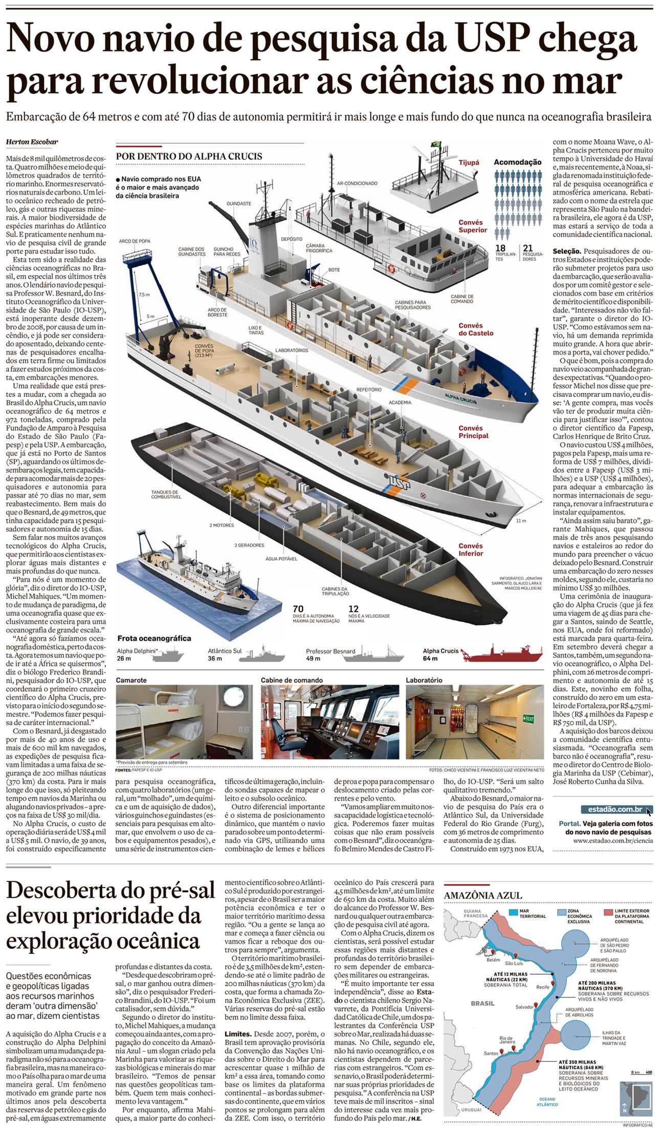 Novo navio de pesquisa da USP chega para revolucionar as ciências no mar