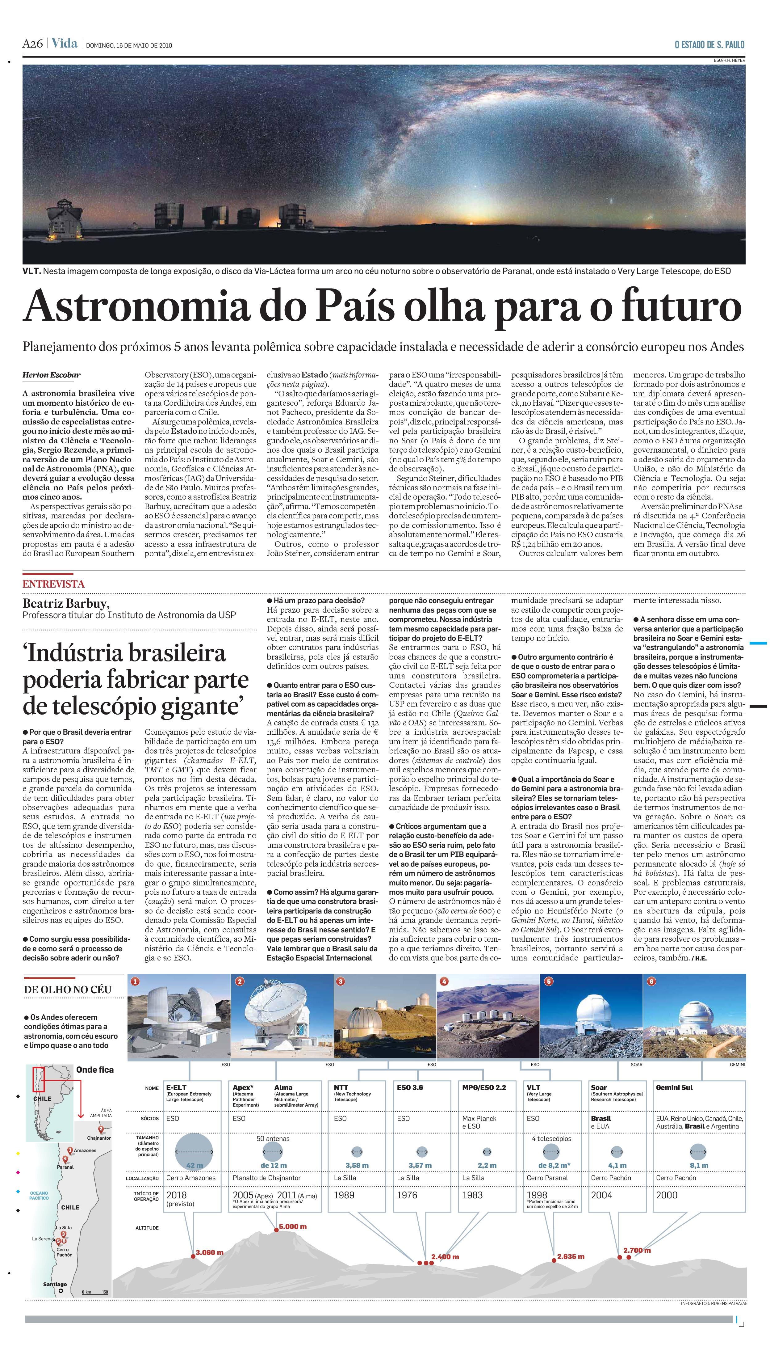 Astronomia do País olha para o futuro