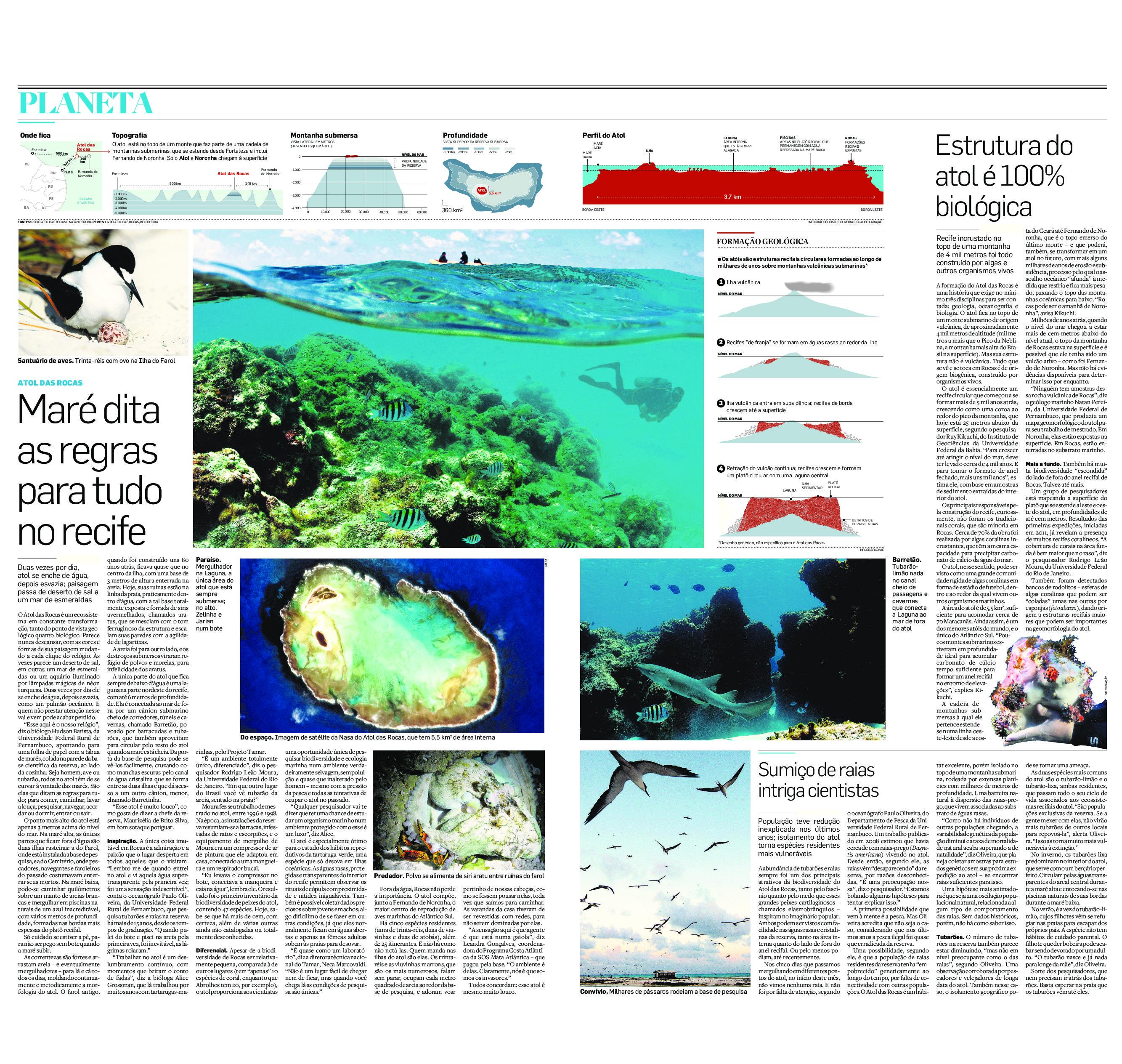Atol das Rocas: Maré dita as regras para tudo no recife