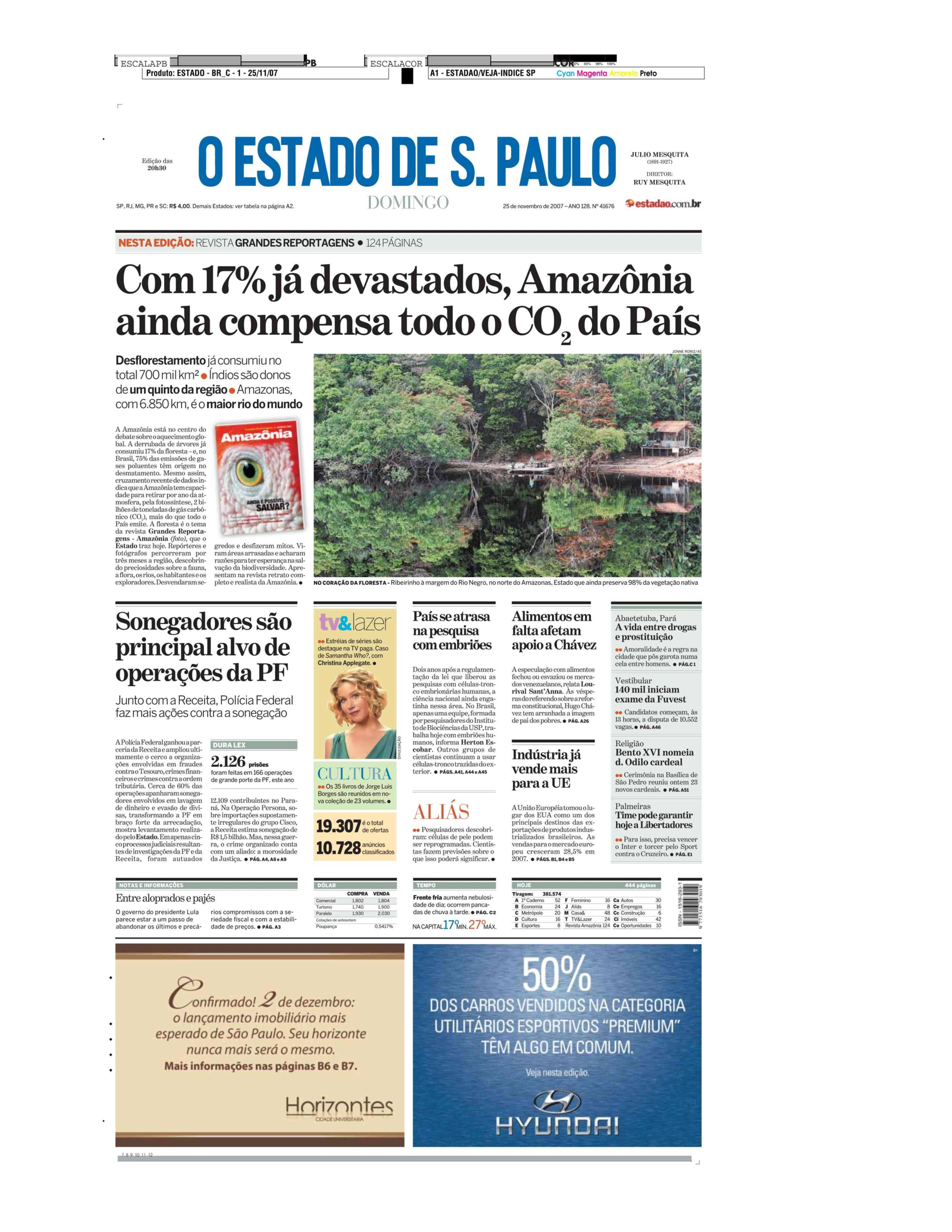 Com 17% desmatado, Amazônia ainda compensa todo o CO2 do país