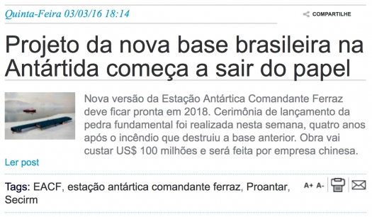 Projeto da nova base brasileira na Antártida começa a sair do papel