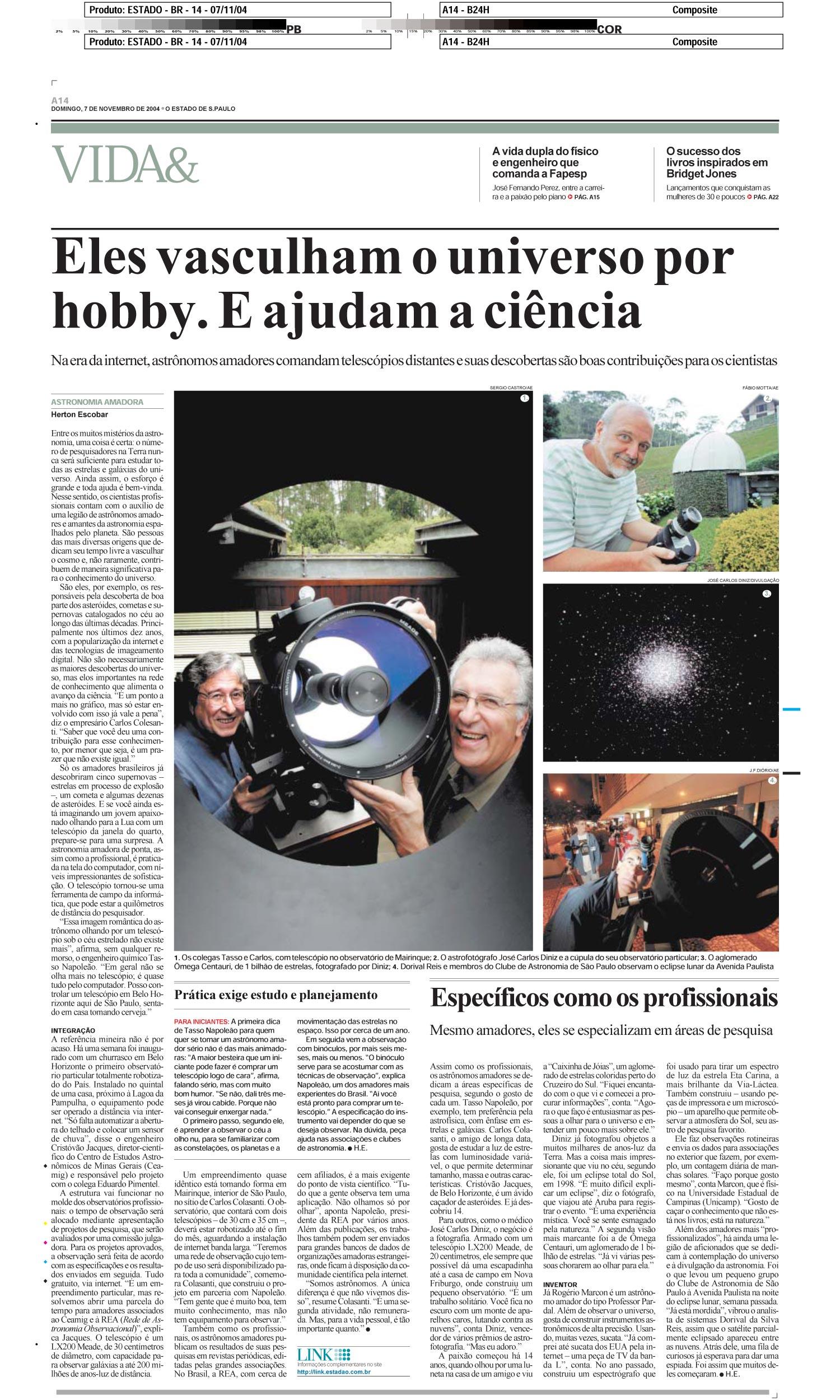 Eles vasculham o universo por hobby. E ajudam a ciência