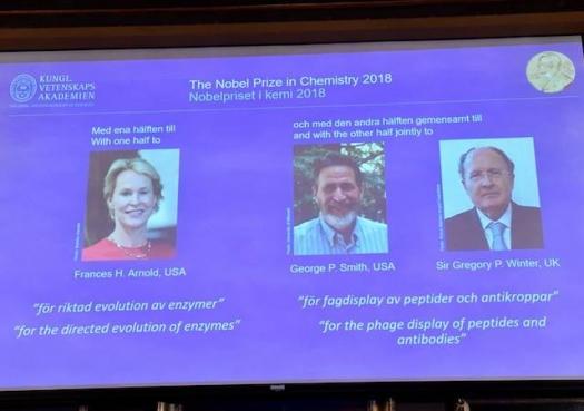 Uso da evolução na Química leva Nobel 2018