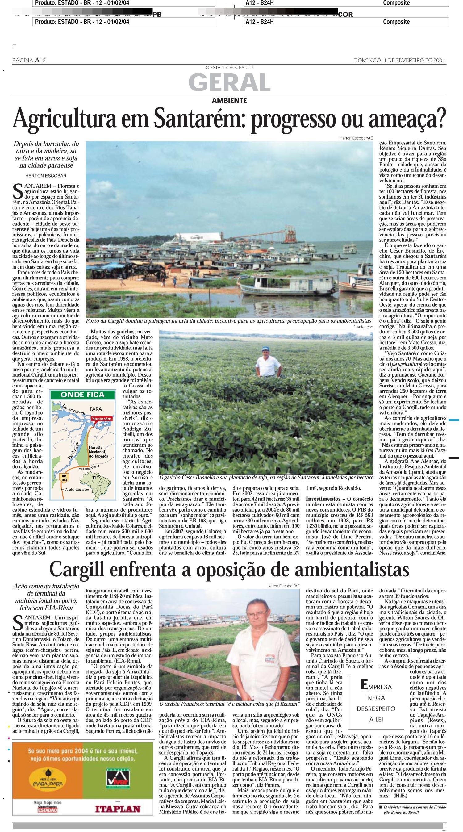 Agricultura em Santarém: progresso ou ameaça?