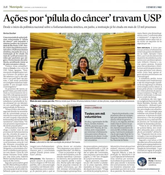 Ações por pílula do câncer travam USP